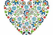 POLAND: various patterns / wzory / Polish papercuts (wycinanki) and other motifs of the folk art from Poland