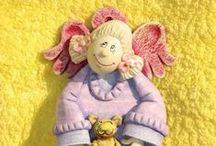www.galeriakasienki.art.pl - Anioły mojej Kasieńki z masy solnej - Angels dough / Anioły z masy solnej - Angels dough