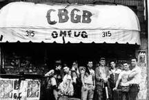 CBGB - New York / Découvrez les artistes ayant fréquenté le CBGB & OMFUG à New York...