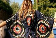 Bohemian chic fashion, beauty / clothes, hair, nails, make up,