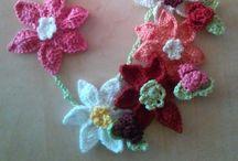"""Crochet neklance """"Made by Marcela"""" / crosetate"""