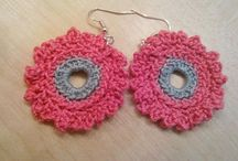 Crochet earrings / Made by Marcela
