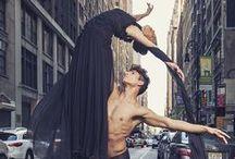 Beautiful dance movement and ballet fashion