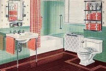 1940s bathrooms, colors & ideas