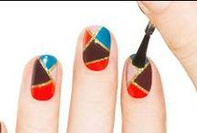 Geometric nails, Striping tape