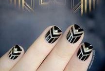 Art Nouveau-deco nails