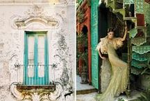 Design ideas - Kitsch and Wild Patterns / Gold, turquoise, light green and more gold.