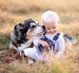♥ Tierisch gute Freunde / https://www.babymarkt.de/ratgeber/familie/familienleben/kind-und-hund/