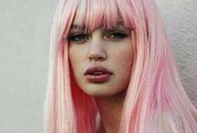 H a i r / Hair Inspiration - Big Hair, Long Hair, Coloured, Dip Dyed Hair, Soft Curls, Braids, Wedding Styles, Hair Extensions.