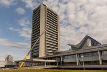 Werk in Uitvoering: Huis voor Brabant / Het Provinciehuis in 's-Hertogenbosch wordt inpandig verbouwd. Stam + De Koning voert deze opdracht voor de Provincie Noord Brabant uit. Fotocredits: Ruud Strobbe