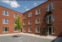 De Barrier, Eindhoven / De Barrier, een plek voor jongeren, wordt door Stam + De Koning gebouwd in opdracht van Woonbedrijf. In de twee gebouwen zijn 36 appartementen gerealiseerd. Het project is in mei 2014 opgeleverd. Fotocredits: Ruud Strobbe