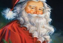 Santa Claus paintings / All children love the jolly ole elf with the plump belly, white beard and bright red suit. Parents love seeing the excitement in their children's faces as they wait for the big day and all the surprises Santa will bring. Visit my website at barbara-griffin.artistwebsites.com