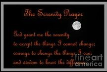 Serenity Prayer Art / Serenity prayer displayed on art images, paintings and photography.