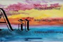Alphabet and Serenity Prayer / The Serenity Prayer on a water color image with the Alphabet.