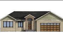 Rambler Floorplans / Single-family Rambler home options from Jordahl.  Your Style, Your Home. Jordahl Custom Homes