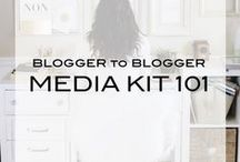 Media Kits / Ideas for bloggers when creating a Media Kit to work with brands.