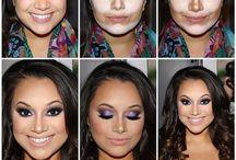 Make-up - Kontur Gesicht / Tips und Anleitungen, um das Gesicht zu konturieren.