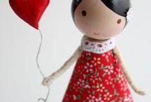 Peg dolls / Kugel Puppen
