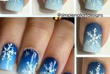 paznokcie świąteczne