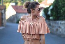 Fashion: Off Shoulder / Some inspiration of the off-shoulder trend.