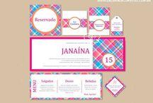 Identidade visual 15 anos - Galeria de Convites / Identidade visual para festas de 15 anos