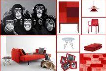 Inspiracje - Dom w stylowej czerwieni / Czerwień to bez wątpienia jedna z kolorystycznych ikon stylu, która bardzo często gości na wybiegach wielkich kreatorów mody i w make up'owych trendach. Czemu by więc nie zwiększyć jej obecności w naszych wnętrzach? Jesteśmy za, dlatego przygotowaliśmy dla Was garstkę czerwonych inspiracji.