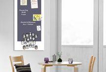 Magnetische Memoboards / Kreidetafeln / Die magnetischen Kreidetafeln in Stahlschild-Optik von cuadros lifestyle sind originelle, trendige und witzige Wanddekorationen für Ihr Zuhause.