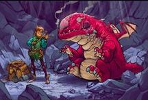 Draw Animals:Dragons / Drawing dragons / by Karrtoon Studies