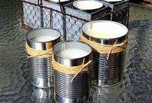 Reclycing... Tin cans
