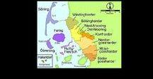 Nordfraschlönj / Land Schleswig-Holstein, Land Sleswig-Holsteen (niederdeutsch), Delstat Slesvig-Holsten (dänisch), Lönj Slaswik-Holstiinj (friesisch), • Kiel • 'Nuurdfresklun'