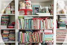 Quilt Studio Envy / #inspiration #organization #organize #storage #sew #craft #create #diy #fabric #design
