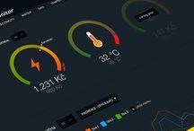 GUI : Dashboard, Graph / 그래프 또는 그래프를 중심으로 한 대시보드 디자인