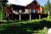 Log Home Living / Our handcrafted, full-scribed log home.  Some things we've done and a few things we'd like to do.
