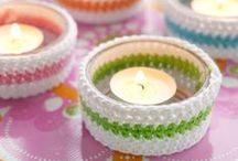Crochet candles