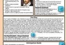 Secondary English from Teach and Earn Enterprises / Secondary English Education Graphic Organizers Novel Study Shakespeare lesson plans