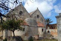 Monasterio de Arkadi, Creta / Monasterio de Arkadi, en la región de Rethimno, Creta. Un lugar emblemático de la historia de esta isla.
