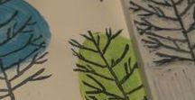 Stamp & tie dye