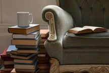 Teatime, Books & Quiet Spots / Beauty comes in many forms even in the simple quiet of a good book, a hot cup of tea and a cozy corner.  :-) / by Jeannette Connally