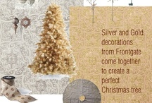 Frontgate Holiday Decor Challenge / Silver and gold decorations, on every Christmas tree.