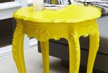{YELLOW   Primary Color} / Add these ideas to your Color Inspiration Notebook for Creating Gorgeous Painted Furniture http://mypatchofbluesky.com/buy-color-inspiration-notebook-2/