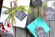 Teacher Gifts: Holidays, Back to School, Appreciation, End of Year / Awesome teacher gift ideas for Christmas and the Holidays, back-to-school, teacher appreciation and end-of-year. Printables, DIY, Gift bundles and baskets. All hail teachers!