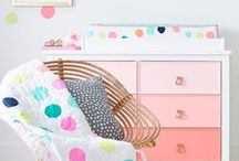 Modern Nursery Decor / Turn your baby's nursery into a modern retreat with these fresh and fun design ideas.
