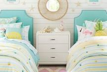 Modern Girl Rooms: Pretty + Fun / Decorating your little girl's room? Look here for ideas + inspiration on how to design and decorate a beautiful, pretty and modern room perfect for your growing girl. Fresh, colorful and fun decor, furniture, artwork + printables!
