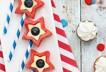 4th of July Ideas for Kids / Everything red, white and blue to help you and your family celebrate Independence Day. Happy 4th!