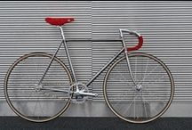 ~ Fixie ~ / Fixed-gear bicycle (or fixed-wheel bicycle, commonly known as a 'fixie') is a bicycle that has a drivetrain with no freewheel mechanism.The 'fixie' has become a popular alternative among mainly urban cyclists, offering the advantages of simplicity. / by Church Mouse