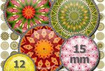 Mandala Mania / Collage Sheets with Mandalas / Kaleidoscopes