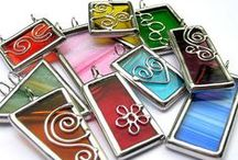 Handmade Pendants, Rings, Earrings / Beautiful examples of Handmade Jewelry based on Collage Sheet Images