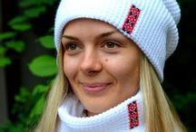 Ukrainian knits / Warm and fuzzy hats, scarves, mittens. All made in Ukraine