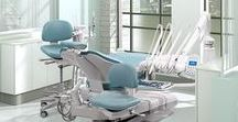 Dental Office Design / Dental office design featuring A-dec dental chairs, dental delivery systems, dental lights, and dental cabinets.