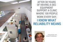 Dental Community Quotes / Thoughts from dentists and the dental community about their A-dec equipment.